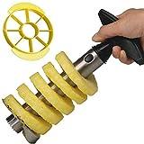 Yeelan Cortador de piña, Corer Peeler / Slicer Set (1 Peeler Negro + 1 Yellow Slicer)