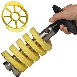 Yeelan Ananasschneider, Corer Peeler / Slicer Set (1 schwarzer Schäler + 1 gelber Slicer)