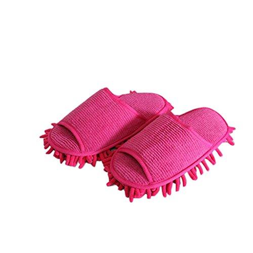 URIJK Staubmopp Hausschuhe Slipper Wischmop Bodenreiniger Waschbar Hausschuhe Schuhreinigung Fuß Schuhe Mop Putz Reinigung Schuh Slipper(1 Paar)