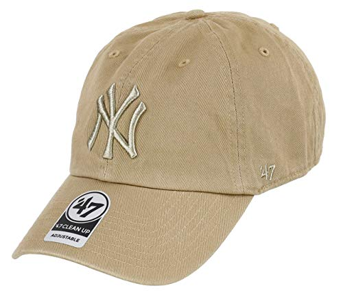 992c8dada8f6a Casquette 47 Brand - Mlb New York Yankees Clean Up Curved V Relax Fit kaki  taille