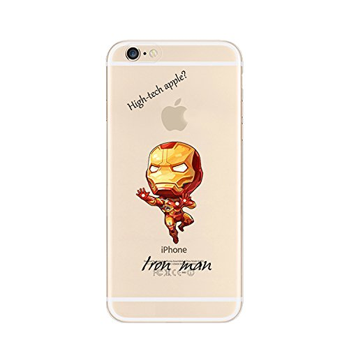 Ronney's Handyschutzschülle, Motiv Marvel Superhelden & Cartoon, transparent, TPU, weich, für Apple iPhone 5/5S/5SE ... Ironman