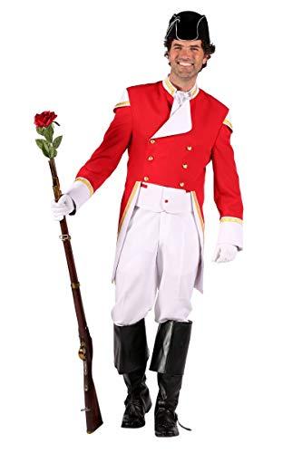Thetru Herren Kostüm Wachoffizier Garde Uniform rot Karneval Gr.XL -
