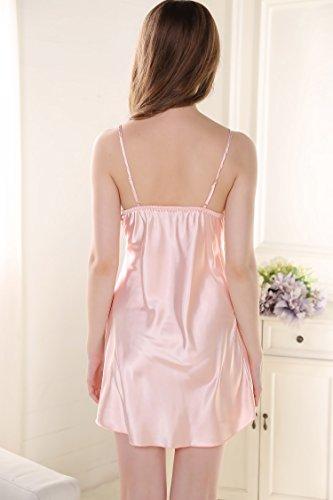 Rainbow Fox 2017 Nuovo sexy indumenti da notte Da donna biancheria da notte biancheria intima sexy pigiama Seta Raso bowknot Red