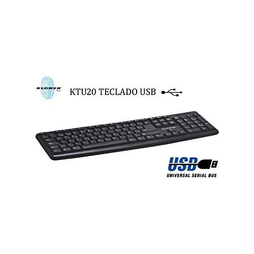 Kloner KTU20 USB Negro - Teclado