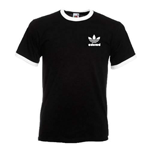 Stone Roses Ian Brown Adored adidas tefoil T-shirt