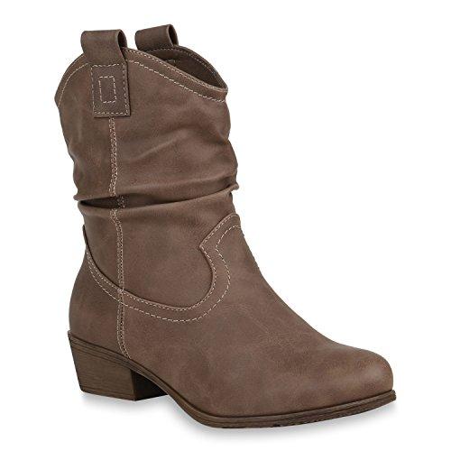 n Schuhe Cowboy Boots Basic Stiefeletten Warm Gefütterte Stiefel 151272 Khaki Agueda 38 Flandell (Cowboy Anzüge)