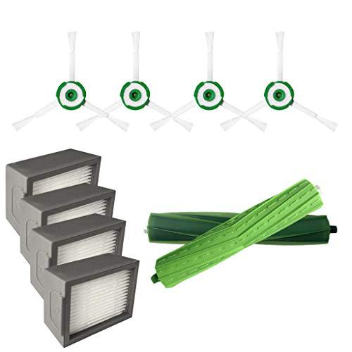 Tianya Filterelement, Seitenbürste Hepa-Filter Borstenbürste für iRobot Roomba i7 i7 + / i7 plus E5 E6 E7