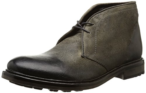 Base London Carbon, Bottes Chukka Homme Gris (Greasy Suede Grey)