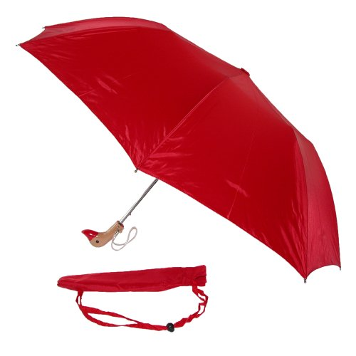 leighton-unisex-wooden-duck-head-umbrella-red