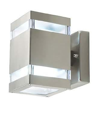 Lampada da parete a led amaru 4 10142 2 lati quadrata ip44 illuminazione - Lampioni da esterno moderni ...