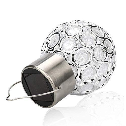Renile Veilleuse Solaire Imperméable Rotatif Extérieur Jardin Camping Suspension Lampe LED Boule Lumineuse Économique