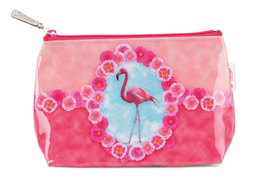 Image of Flamingo by Catseye London Jellycat Small Cosmetic Bag