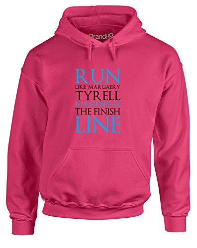 Margaery Tyrell (Run Like Margaery Tyrell is Waiting at..., Adult's Gedruckt Hoody - Pullover - Rosa/Schwarz S = 86-91)