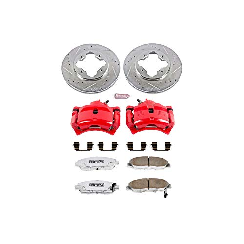 Power Stop KC697-26 Z26 Street Warrior Brake Kit with Powder Coat