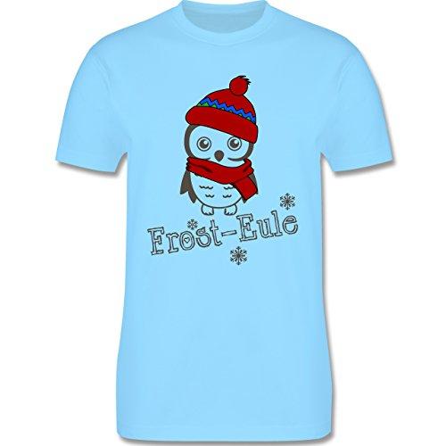 Eulen, Füchse & Co. - Frost-Eule - Herren Premium T-Shirt Hellblau