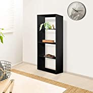 Vogue Bookshelf, Black, H34 x W149 x D10 cm