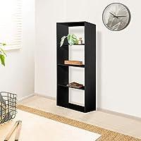 Vogue Bookshelf, Black - H 1450 mm x W 600 mm x D 300 mm