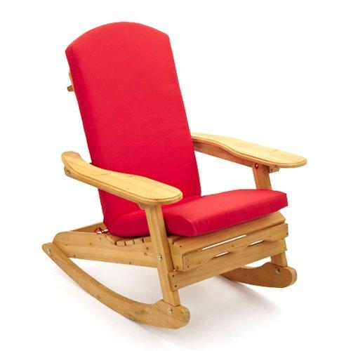 Chaise à bascule de jardin Adirondack style & Bowling & quot; Coussin de luxe en rouge