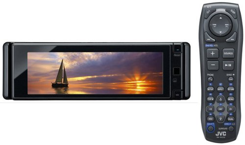 JVC KD-AVX 77 Auto Audio-/Video-System (DVD-Player, 13,7 cm (5,4 Zoll) Ultra-Widescreen Monitor, UKW-/MW-Tuner, Bluetooth, USB 2.0) schwarz Jvc Audio Video