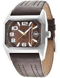 INTELIHANCE.  14102JS/12 - Reloj de cuarzo para hombre, con correa de cuero, color marrón