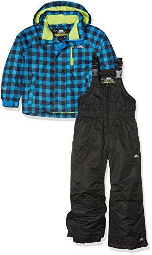 Trespass Unisex-Kinder Jacke Olsen und Hose Ski, Blau (Kobalt kariert), Gr. 2-3 Jahre | 05045274286816