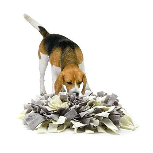 CHONGWU Schnüffelteppich Für Hunde, Schnüffelhunde Intelligenzspielzeug Geruchsempfindung Hundespielzeug Gymnastikmatte Naturfutter, Grau 45Cm * 45Cm