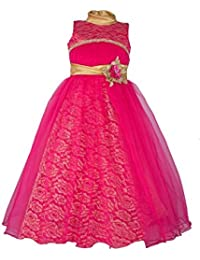 My Lil Princess Baby Girls Birthday Frock Dress_Bow Pink Frock_4-10 Years