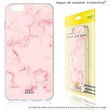FunnyTech® Funda Silicona para BQ Aquaris X5 [Gel Silicona Flexible Alta Calidad] [Ultra Slim 1,5mm-Gran Resistencia] [Diseño Exclusivo, Impresión Alta Definición] [Textura marmol rosa]