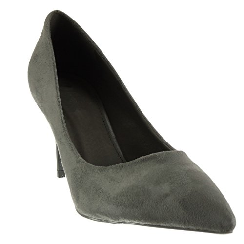 Angkorly Damen Schuhe Pumpe - Stiletto - Dekollete Stiletto High Heel 8.5 cm Grau