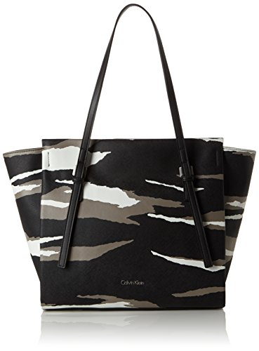 Calvin Klein Jeans M4RISSA PRINT LARGE TOTE, shoppers Noir - Schwarz (BLACK MULTI 901)
