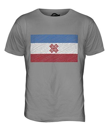 CandyMix Mari El Kritzelte Flagge Herren T Shirt Hellgrau