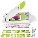 Vegetable Chopper Dicer Slicer Cutter Manual/Vegetable Grater,LOVKITCHEN Multifunctional Adjustable Vegetable & Fruit Chopper