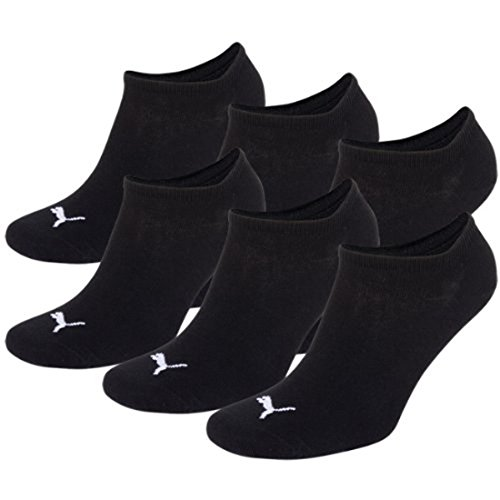 PUMA Unisex Sneakers Socken Sportsocken, 6 Paar (35-38, SCHWARZ) (Stulpen Gerippte Schwarz)