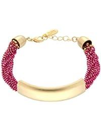 Sweet Deluxe Damen-Armband Messing Marella matt gold/ pink 2723