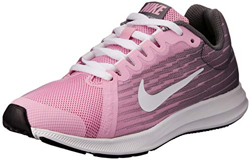 Nike Downshifter 8 (GS), Scarpe da Atletica Leggera Donna, Multicolore (Pink Rise/White/Gunsmoke/Black 602), 38.5 EU