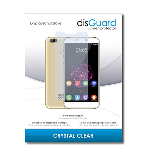 disGuard® Bildschirmschutzfolie [Crystal Clear] kompatibel mit Oukitel U20 Plus [2 Stück] Kristallklar, Transparent, Unsichtbar, Extrem Kratzfest, Anti-Fingerabdruck - Panzerglas Folie, Schutzfolie