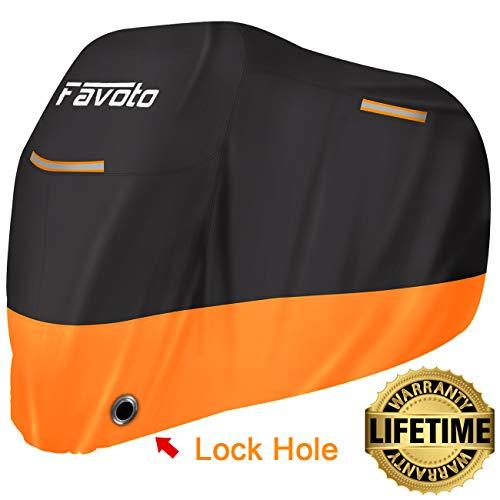 Favoto Funda Moto Cubierta Moto 210D Impermeable Protectora