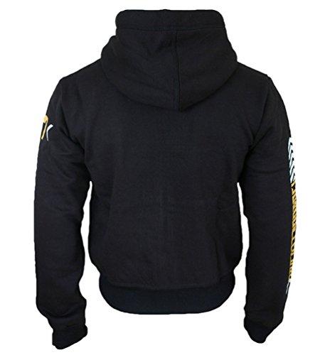 "ROCK-IT Herren Zip-Hoodie Sweatjacke Zipper Kapuzenjacke ""07"" Kapuzenpullover Sweatshirt Pullover Größen S-5XL Farbe Schwarz Grau Navy Blau Grün Schwarz"