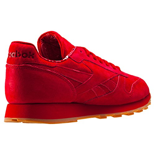 Reebok Cl Leather Tdc, Sneakers Homme Rouge (Scarlet/white-gum)