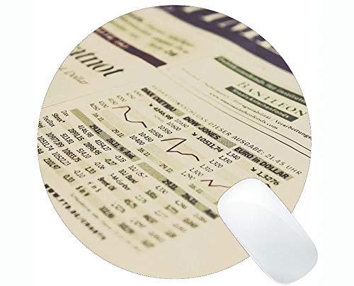 Gaming Round Mouse Pad Benutzerdefinierte, Money Chart Coin Runde Mauspad mit genähtem Rand
