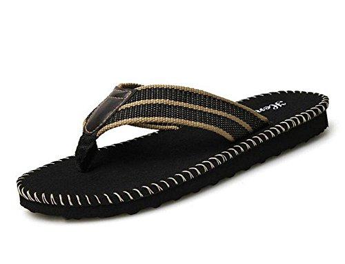 Männer öffnen sich zurück Hausschuhe Sommer Casual Fashion Tones Pantoffeln Bequeme Breathable Band Sandalen Black