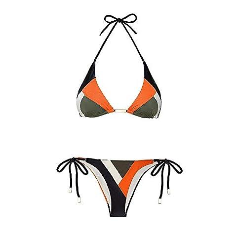 WANGXN Frau schlug Farbe sexy Bikini Bademode Push , picture color , m