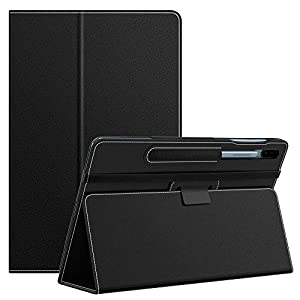 MoKo Case Fit Samsung Galaxy Tab S6 10.5 2019, Ultra Compact Protection Premium Folding Stand Slim Smart Cover Case with Auto Wake & Sleep for Galaxy Tab S6 10.5 inch SM-T860/T865 2019 - Black