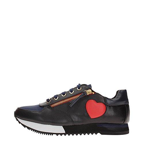 Love Moschino JA15093G12I Sneakers Donna Ecopelle BLU/NERO BLU/NERO 35
