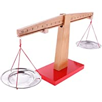 B Blesiya Báscula de Balanza de Madera Montessori Juguete de Aprendizaje de Matemática