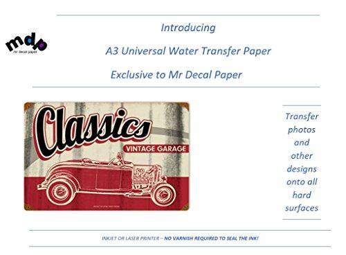 Universal A3de inyección de tinta papel de transferencia de agua | | láser | 5A3–No requiere Spray sellador