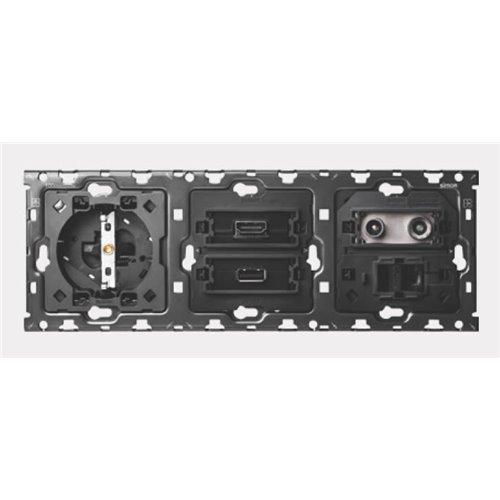 Kit 3Elem Base + HDMI + USB + TV + RJ45Simon 10010010304-039 -