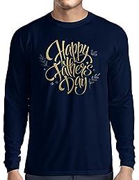 Camiseta de Manga Larga para Hombre Feliz día de los Padres - Mejor Regalo de la