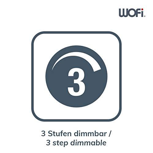 ACTION by WOFI 323001646000 A Standleuchte, Metall, 28 W, Integriert, nickel matt, 23 x 17 x 140 cm - 3