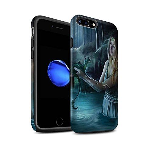 Officiel Elena Dudina Coque / Matte Robuste Antichoc Etui pour Apple iPhone 7 Plus / Pack 5pcs Design / Dragon Reptile Collection Eau/Bébé